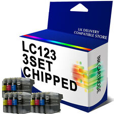 12 CHIPPED Ink Cartridge For DCP-J132W DCP-J152W DCP-J752DW J552DW Replace LC123