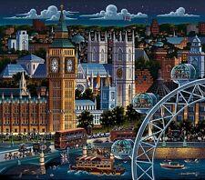 DOWDLE FOLK ART COLLECTORS JIGSAW PUZZLE LONDON BIG BEN 1000 PCS #10116