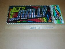 Let's Rally prism license plate tag topper Pinball Hot Rod vintage racing sealed