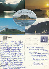 1980's MULTI VIEWS OF NORWEGIAN FJORDS COLOUR POSTCARD