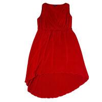 City Chic Red Dress Plus Size Small Women's 16 High Low Hemline