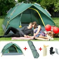 4-Person Instant Pop-Up Tent Camping Outdoor Family Hiking Shelter Waterproof US