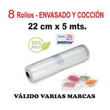 8 Rollos cocción y envasar vacío 22cm x 5m - Varias marcas