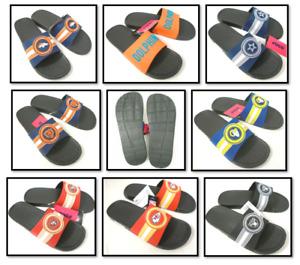 FoCo Men's NFL Raised Logo Slide Shower Shoes