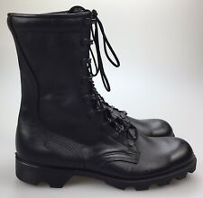 Vintage Deadstock 1986 Mens RO SEARCH Black Leather Military Combat Boots Sz 8NR