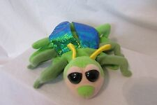 """Caltoy Hand Puppet Green Beetle Bug Iridescent Wings 9"""" Insect Plush Big Eyed"""