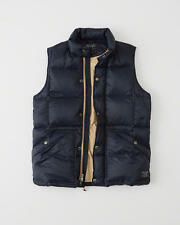 NWT 2016 Abercrombie & Fitch Men Down Quilted Puffer Vest Navy XL