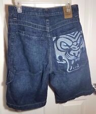 Vintage JNCO Jeans Tiger Dragon Baggy Shorts Waist 30 Rave Skater 90's Crown