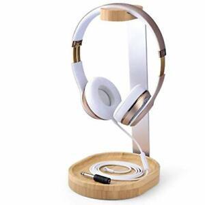 Support Universel Casques Audio, Casque Gaming, Ecouteurs, Bois et Aluminium