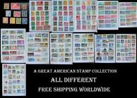 A Great American US Stamp Collection, All Different, Free Shipping Worldwide
