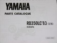 Yamaha RD 350 LC 2 31K YPVS 1983 piezas lista catálogo RZ 350 manual.
