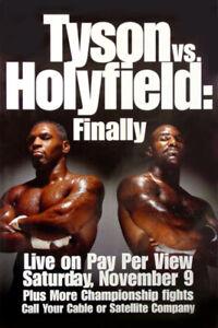 Tyson vs. Holyfield: Finally (1996) Sport Memorabilia Poster, Original, Rolled