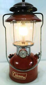 Vintage Coleman 200A Red Single Mantle Lantern March 1967