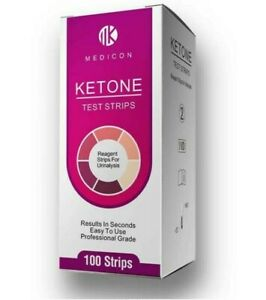 100 x KETO/KETOSIS/KETONE/DIABETES URINE TEST STRIPS - 8500+ SOLD!