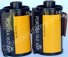 2 x Kodak Portra 160 35mm 36 exp. Cheap Colour Print Camera Film  1ST CLASS POST