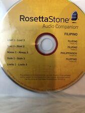 Rosetta Stone Audio Companion CD Version-3 Level 1-3 Filipino
