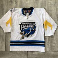 Vintage Springfield Falcons Tampa Bay Lightning AHL Hockey Jersey Boy Youth L/XL