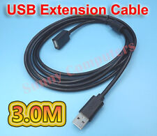 USB Extension Data Cable 2.0 A Male to Female Long Cord for Computer MacBook 3M