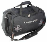 Männer Sporttasche groß robust Fitness Tasche Reisetasche mit Schuhfach Schwarz