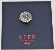 Keep Collective Charm Pave' Disc Silver