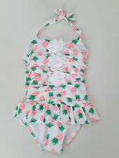 NWT JANIE AND JACK Toddler Girls Pineapple Swimsuit with 3D Bloom Size 2T