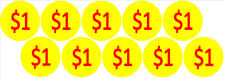 10 Price Stickers VENDING MACHINE CANDY STICKERS LABEL $1 Cent Free Shipping