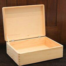 Scatole Di Legno Legno di stoccaggio petto Memory Box Plain PINO NATURALE 40x30x14cm SD140B