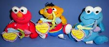 Sesame Street plush Valentine Cookie Monster-Ernie-Elmo;Spanish/English;LOT-3
