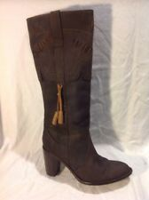 Buffalo Brown Mid Calf Leather Boots Size 5
