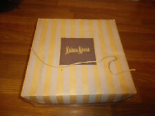 Vintage~Hat Box~Neiman Marcus~Striped~1940's~BOX ONLY