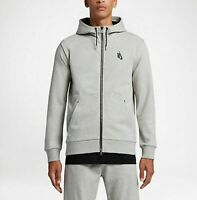 Nike Nikelab Essential Tech Fleece Hoodie Jacket 853780 052 Grey M