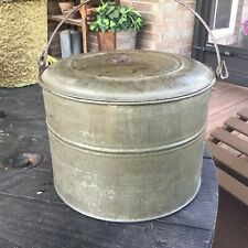 Vintage Tin Metal Coal Miner's Lunch Box Pail