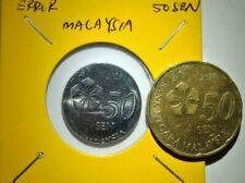 ERROR COIN MALAYSIA 50SEN 2018YEAR
