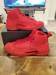 Nike Air Jordan 12 XII Retro Gym Red Suede Black 2018 High OG 130690-601 Sz 13