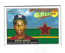 Rickie Weeks 2005 Bowman Heritage Future Greatness Jersey Card,# FG-RW
