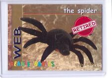 Ty S1 *Red* Retired *Web The Spider* Beanie Card Only Rare Insert 4041