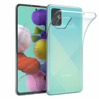 Für Samsung Galaxy A51 Hülle Case Silikon Cover Handy Schutz Slim Transparent