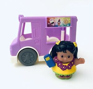 Fisher Price - Little People Share a Treat Ice Cream Truck and One Figure EUC