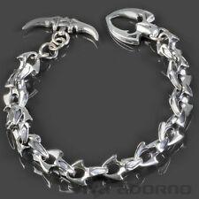 925 Silber Herren Armband  Biker Gothic Panzer Armband Königskette SB8