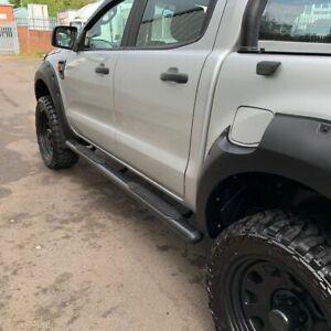 4'' Oval Black Side Steps / Bars for Ford Ranger T6 2016-2018 PX2