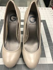Guess  Genuine Leather Rounded Toe Pumps