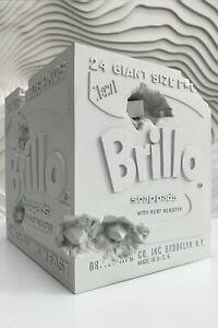 Daniel Arsham Eroded BLUE Brillo Box Andy Warhol Collab Edition of 500 Free Ship
