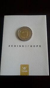 """Belgium 2 Euro BU coin 2016 """"Child Focus"""" in coincard"""