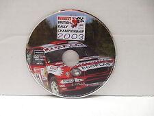 Pirelli British Rally Car Racing 2003 Championship DVD NO CASE