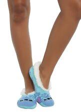 Disney Lilo & Stitch Hibiscus Cozy Fluffy Slipper Socks Anti Slip New With Tags!