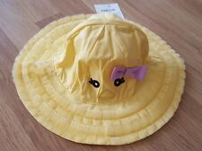 Gymboree baby girls yellow sun hat 12 - 24 mnths bnwt