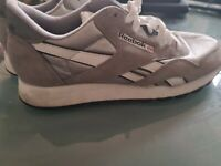 Light Grey Reebok Classic Leather and Nylon UK 8
