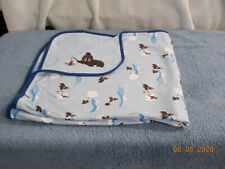 New listing Gymboree Reversible Baby Boy Walrus/Bear Blanket New