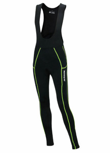 Airtracks Mens Thermal Bib Cycling with Long Pants Black Neon Size S rrp £40