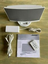 Bose Sound Dock Speaker iPod & iPhone Docking Station WORKS White with Remote